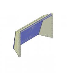 Cinque obiettivi calcistici in 3D Modello AutoCAD