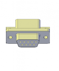 9 Pin female connector 3D AutoCAD model