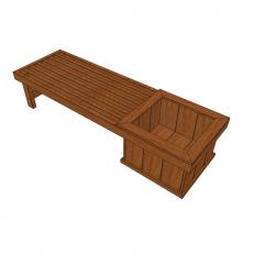 Planter bench skp model
