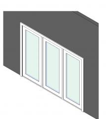 3 Panel patio door revit object