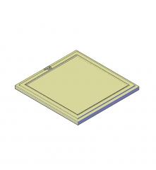 Square window 3D CAD block