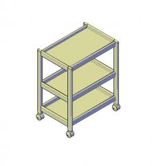 Tavolo mobile 3D modello dwg