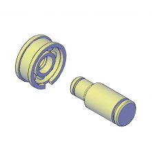 Bearings  shafts and washers 3D CAD block