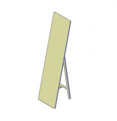 Espejo de pie Suelo modelo CAD en 3D