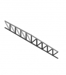 Steel truss Revit model