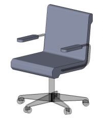 Chair Task Arms Revit Family