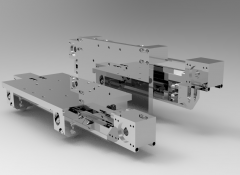 Solid-works 3D CAD Model of Self-supporting linear rail, Min stroke=100Max stroke=7056Max L of profile=7692L of carriage=430