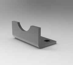 Solid-works 3D CAD Model of Cover Fixings  Accessories, Size=15E =27OU=6.6