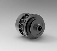 Autodesk Inventor 3D CAD Model of Friction Clutch, 0.8750 in Bore, Shaft Mounted,  1/8 NPT.