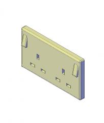 Zwei Gang geschaltet Buchse 3D-CAD-Modell
