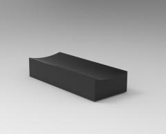 Fusion 360 3D CAD Model of key for machine Saddle wxhxl=8x3.5x20