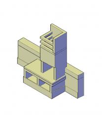 Mediterranean brick BBQ 3D CAD file