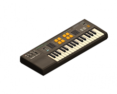 Music keyboard 3DS Max