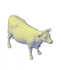 Modello CAD 3D della mucca