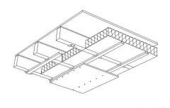 Ceiling Installation Detail CAD dwg