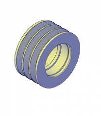 roldana bloque de CAD 3D
