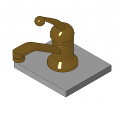 Single basin faucet Revit family
