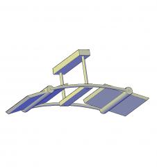 luz de techo moderna modelo 3D de AutoCAD