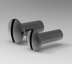 Autodesk Inventor 3D CAD Model of Slotted raised countersunk screw M2X5