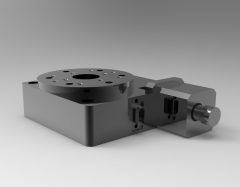 Solid-works 3D CAD Model of High Precision Motorized Rotation, Ratio=320:1Speed=14accuracy=<0.003 Step angle=57(1.8°)current=2.4