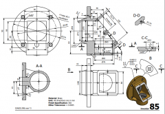 3 & 5 Axis CNC Machinable 2D CAD Drawing 85