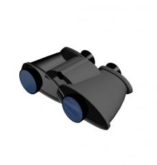Binoculars 3DS Max model