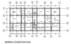Foundation Plan - Apartment Block 2d dwg