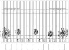 8.65sqm Wooden Bar Counter with Six Bar Stools Plan dwg Drawing
