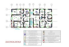 Electrical Plan - Apartment Block 2D dwg