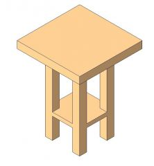 Table - Night Stand Revit Family