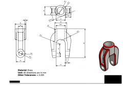 Inventor 2D CAD drawing for student practice 87