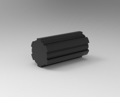 Solid-works 3D CAD Model of fluted shaft with grooves, No. of Grv.6 ID23,OD26