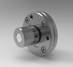 Solid-works 3D CAD Model of Ball Spline with rotary nut, ØD1=22mmØD2=15L(mm)=25P1=18mm  S=M 2.5