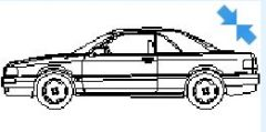 Cabrio in elevation view dwg model