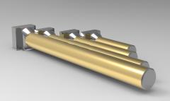 Autodesk Inventor 3D CAD Model of Steel T-Slot Bolts M12-L125