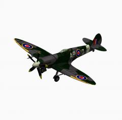 Spitfire самолет 3ds Max блок