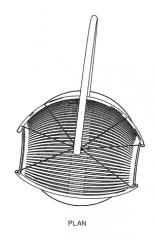 880mm Wide Swing Rattan Made Plan dwg Drawing