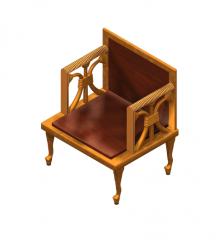 Egyptian chair Studio max model