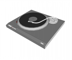 Turntable Sketchup Modell