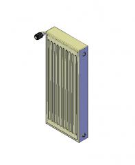 Vertical Radiator 3D AutoCAD model