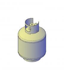 LPG Gas cylinder 3D CAD model