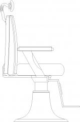 886mm Width Salon Wash Basin For Hair Left Elevation dwg Drawing