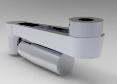 Autodesk Inventor ipt file 3D CAD Model of retractable  Cranked handle, l (mm)=100B12 d2 (mm)=30d3 (mm)=28