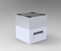 Solid-works 3D CAD Model of Mould base, Plates w=125 Plates L= 125