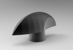Solid-works 3D CAD Model of Knob with tapped insert,  L=50M=M5