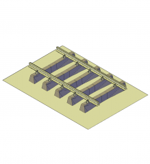 Gleis 3D-CAD-Modell