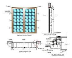 Glazed Door Design dwg