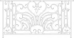 898mm Height Europian Traditional Design Railing Front Elevation dwg Drawing