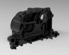 Autodesk Inventor 3D CAD Model of engine Assembly body