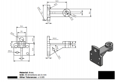 Autodesk Inventor 2D CAD drawing for practice 8